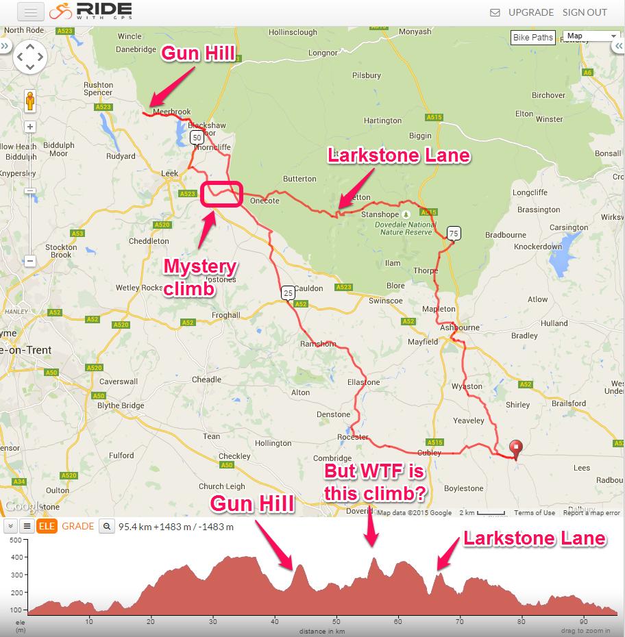 Peaks 100 Climbs Ride Gun Hill and Larkstone Lane